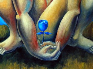 Yuroz's blue rose as a symbol