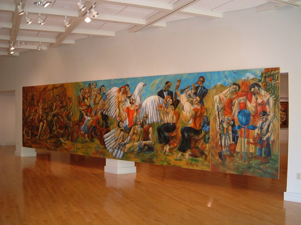 United Nations Human Rights Mural by Yuroz