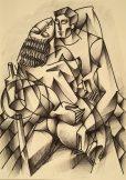 original charcoal drawing by Yuroz