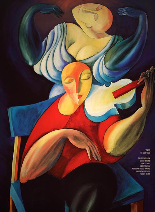 white violin poster by yuroz