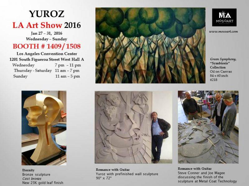 Yuroz at LA Art Show 2016 Booth 1409/1508