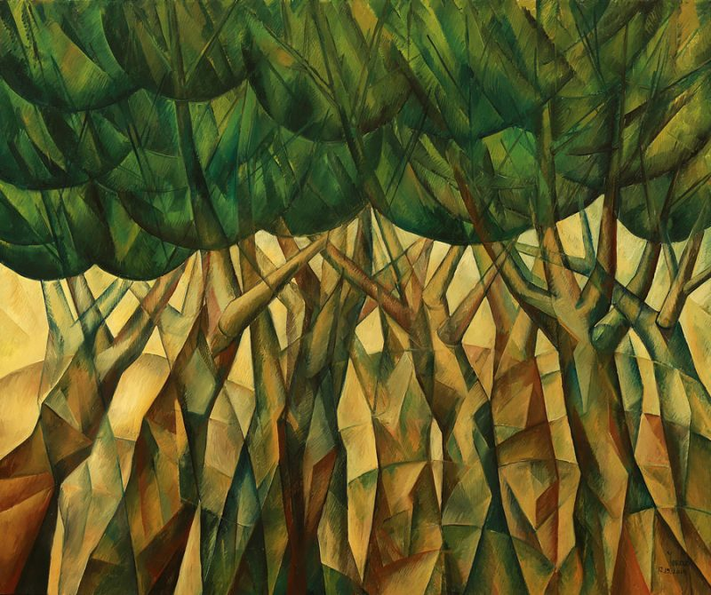 Dancing Trees Original oil on canvas by Yuroz