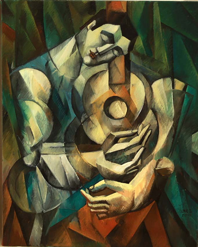 Lost in his Music original painting by Yuroz