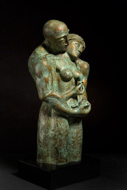 delicate balance cast bronze sculpture by Yuroz