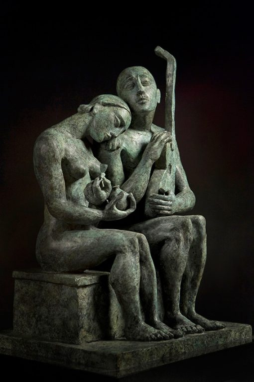 Together in Time cast bronze sculpture by Yuroz
