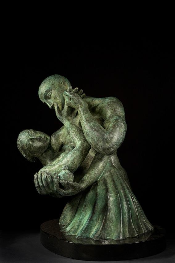The touch cast bronze sculpture by Yuroz