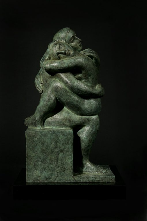 tranquility cast bronze sculpture by yuroz