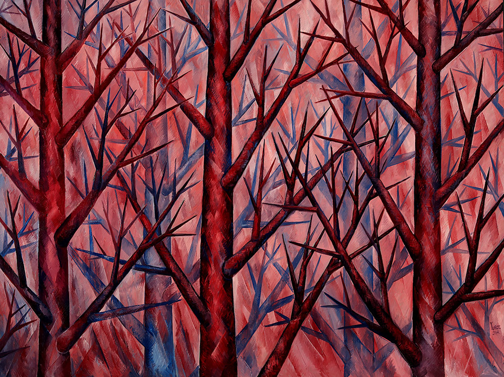 """Harmony in Pink"" in Symbiosis Collection. Original Oil on Canvas 72"" x 96"""