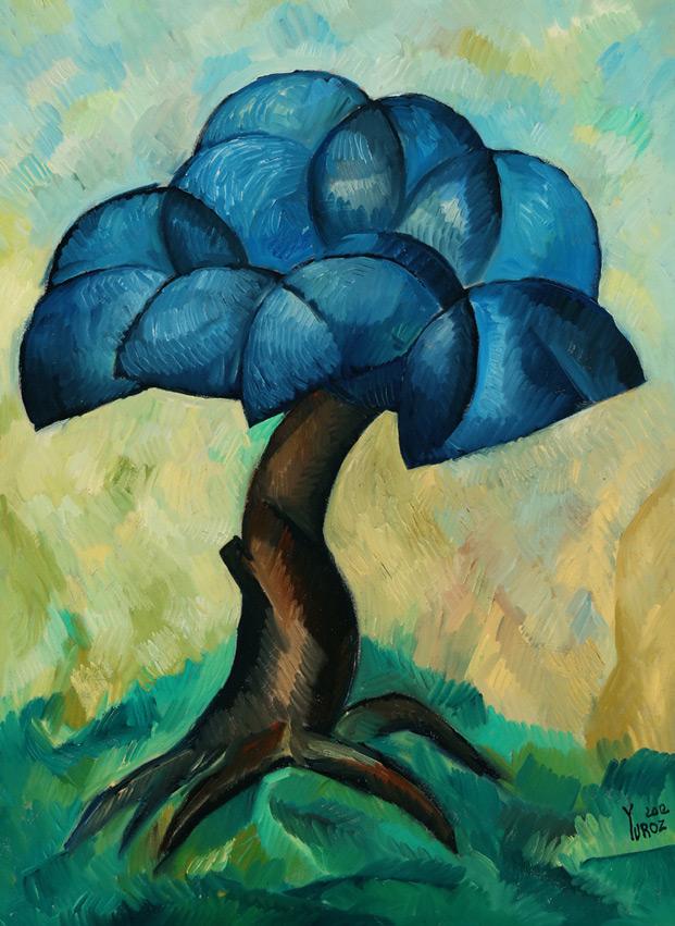Metamorphosis in Blue original oil on canvas by Yuroz
