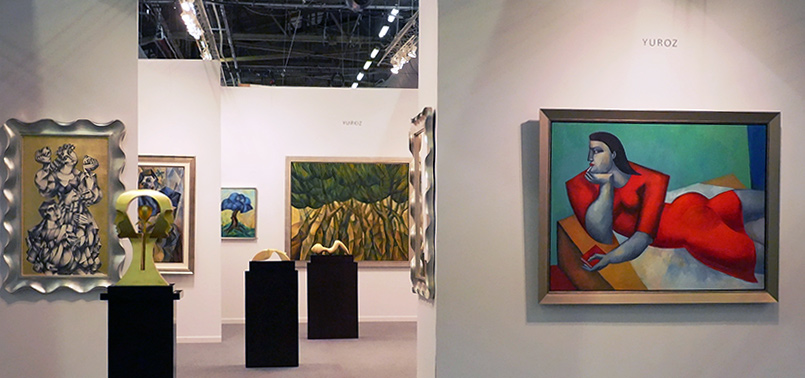 Yuroz booth at Art New York 2016