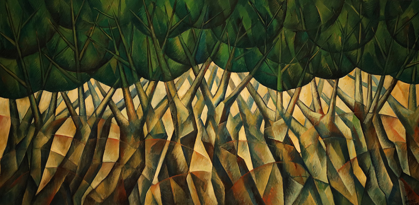 Meditation Series: Dancing Trees, Study II by Yuroz