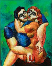 6519 Lover's Embrace study by Yuroz