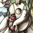 YUROZ_Lovers with Guitar & Pomegranate_detail1