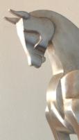 Intrepid Venetian Silver leaf face detail