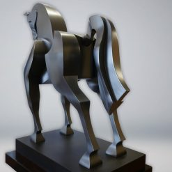 Intrepid horse sculpture by Yuroz