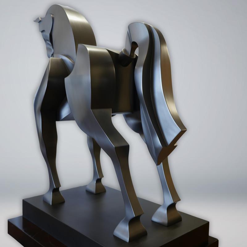 Intrepid horse sculpture by Yuroz