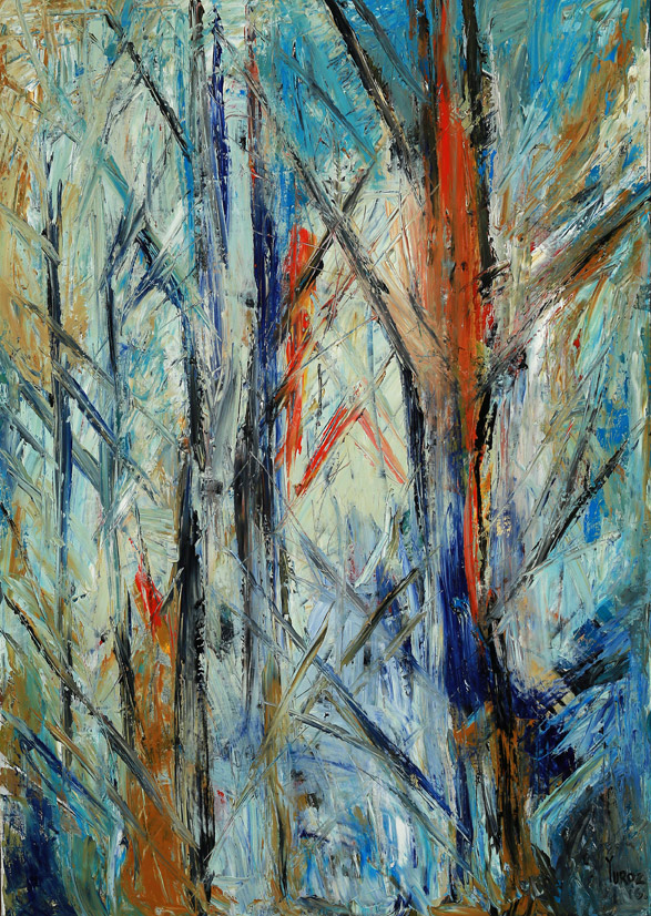 Idyllic Forest:  Study: Comp 01 Oil on Canvas by Yuroz