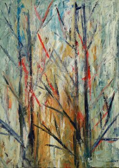 Idyllic Forest:  Study: Comp 02 Oil on Canvas by Yuroz