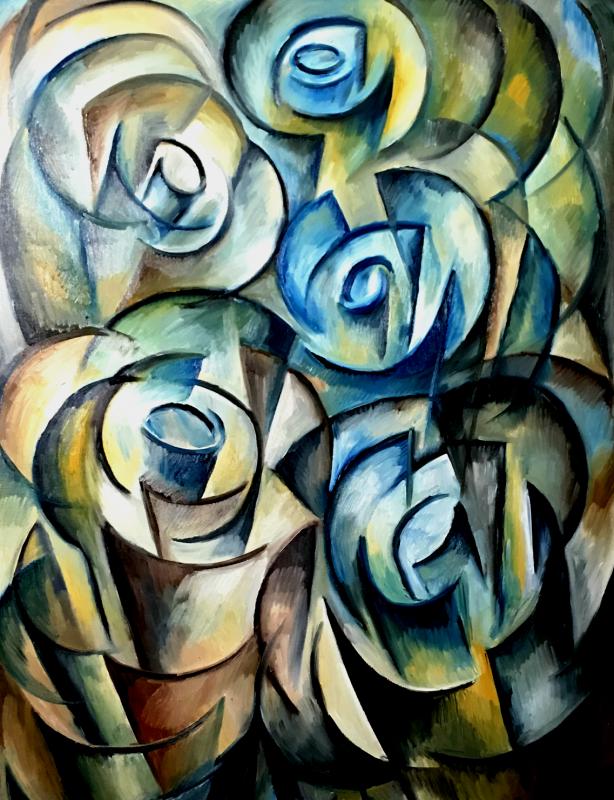 Cadence in Earthtone, Composition 04 by Yuroz