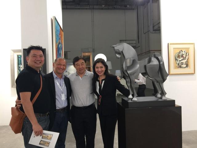 Artist Yuroz at Art Stage Singapore 2017